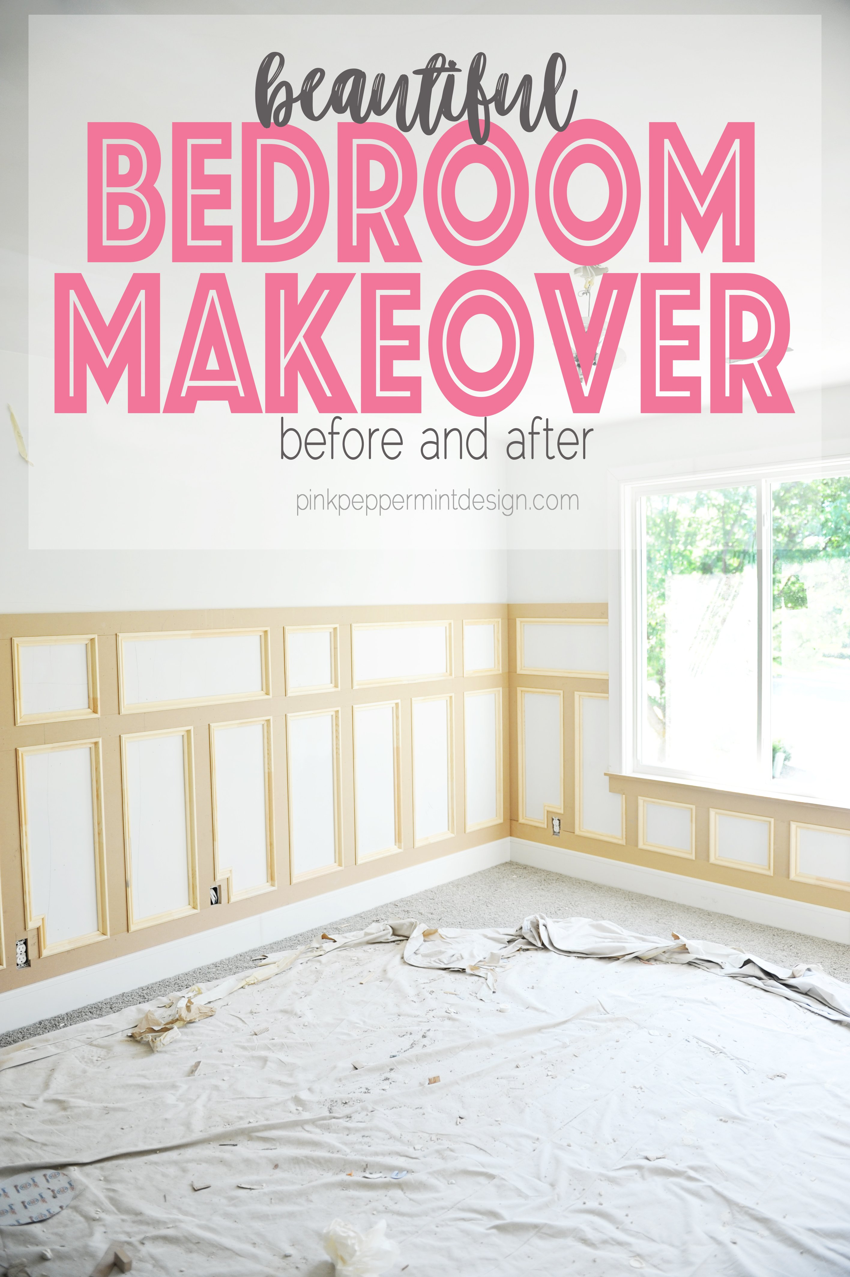 Bedroom makevoer before and after