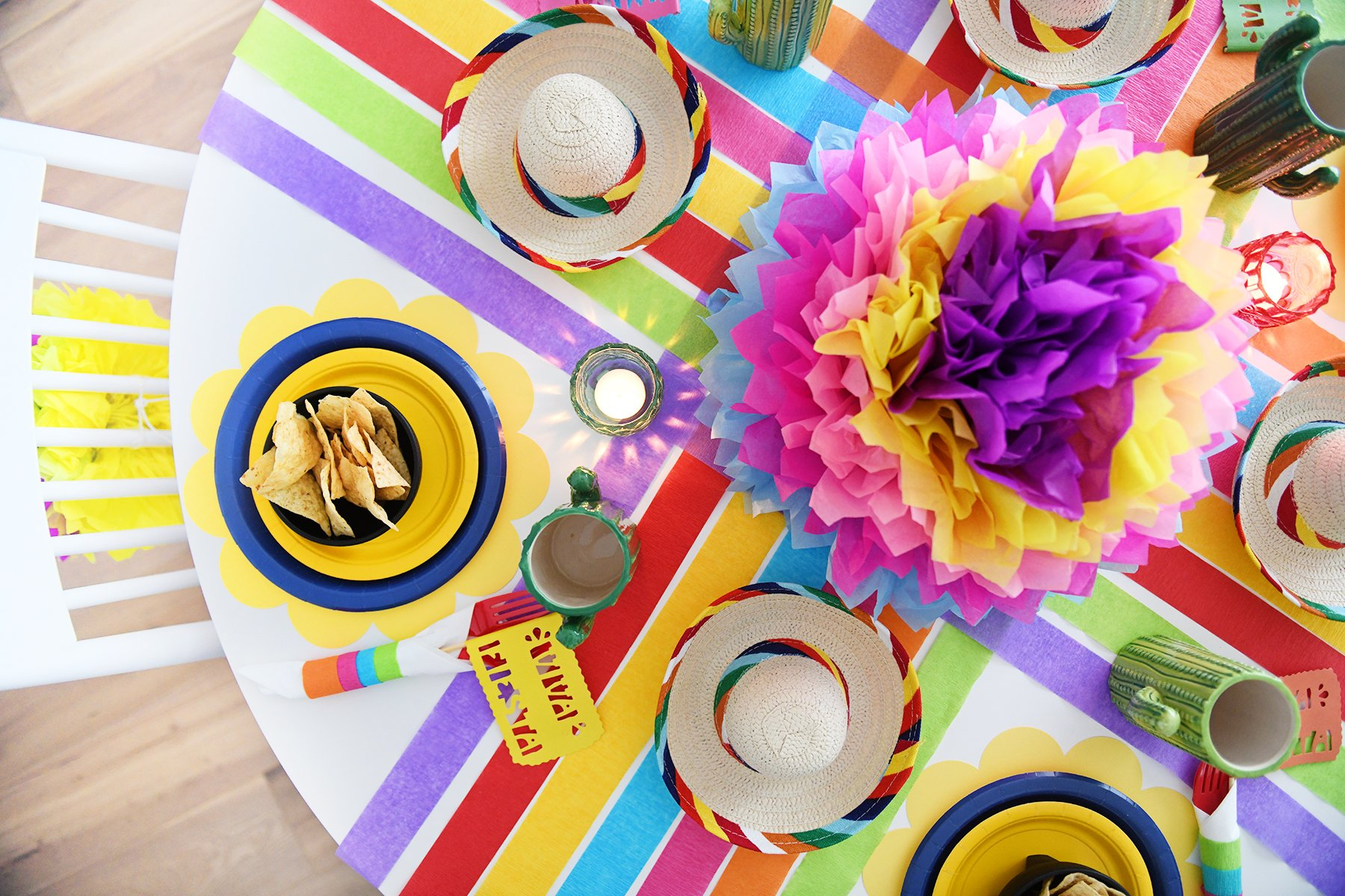 FIESTA THEME PARTY IDEAS FOR THE TABLE