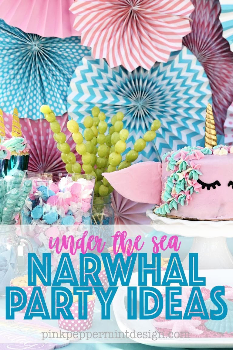 Under the sea party ideas narwhal party