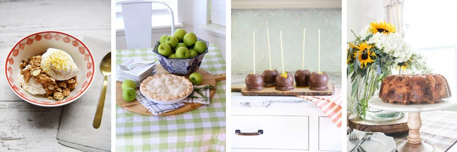 Pies, mini cakes and crisp apple recipes.