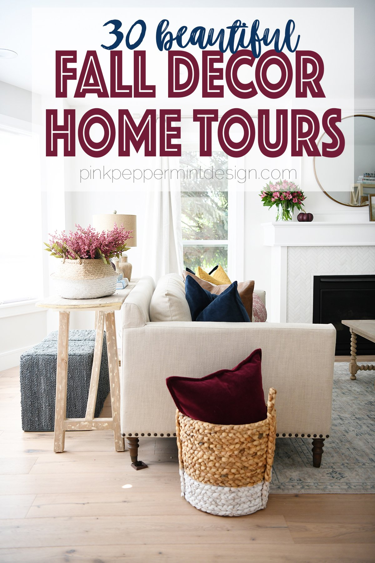 Fall decor home tours