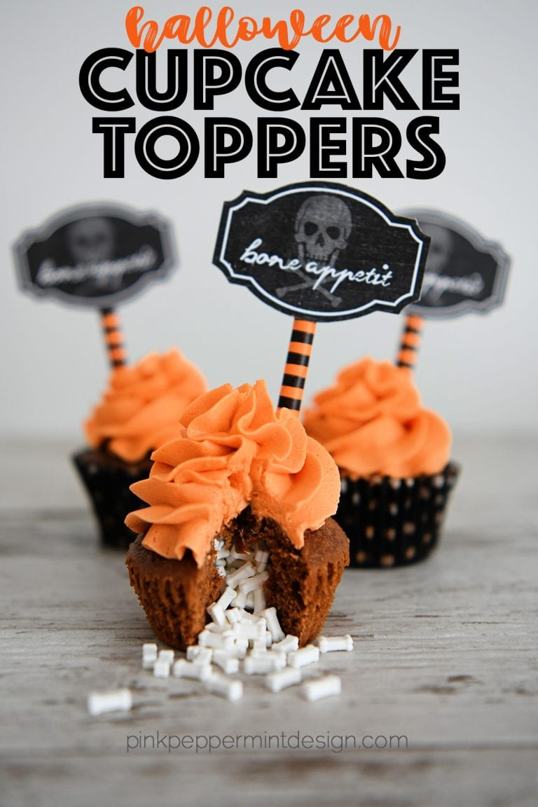 Free printable halloween cupcake toppers 2