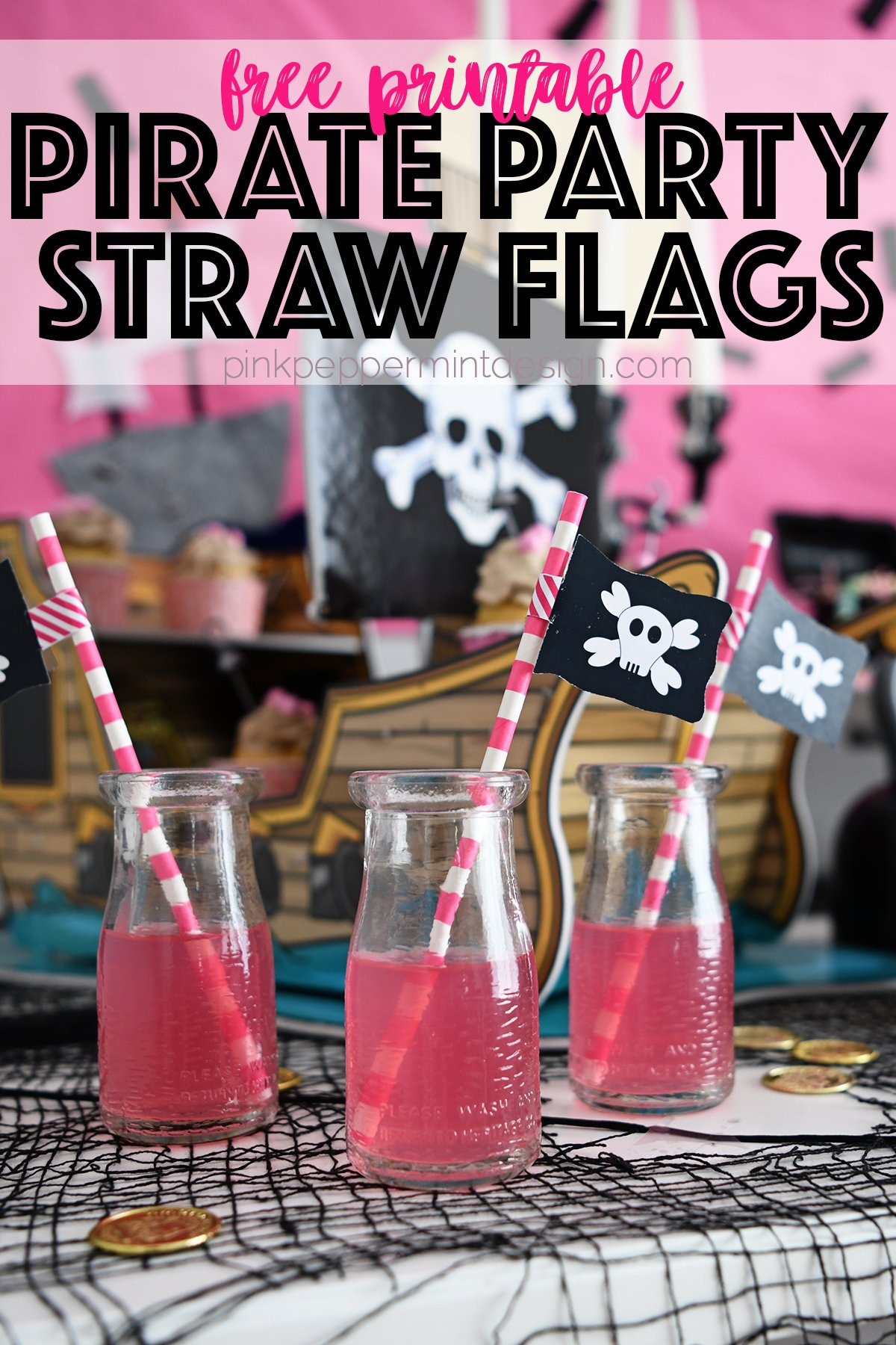 Free printable pirate party flags