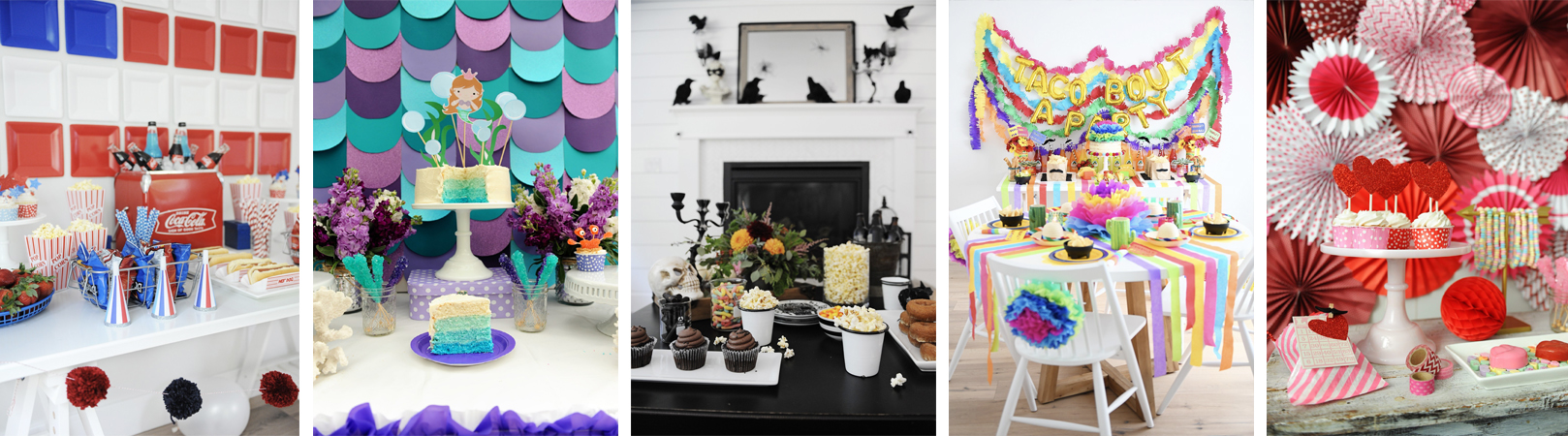 Party ideas collage footer 1