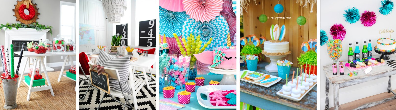 Party ideas collage footer 2