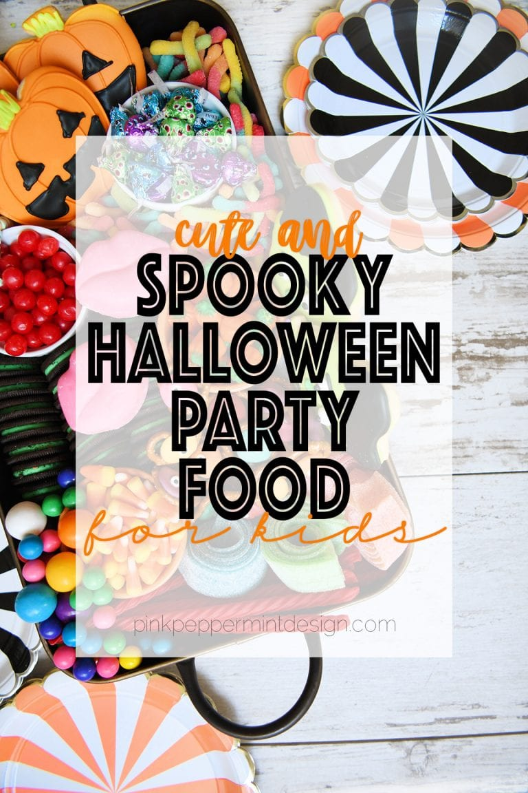 Spooky halloween party food