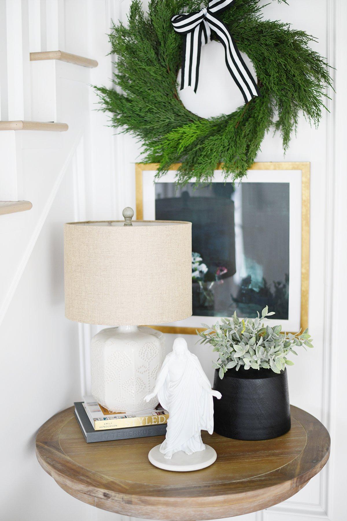 Christmas entry way decor 2
