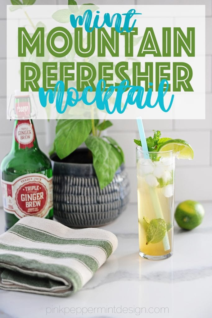 Mint mountain refresher mocktail