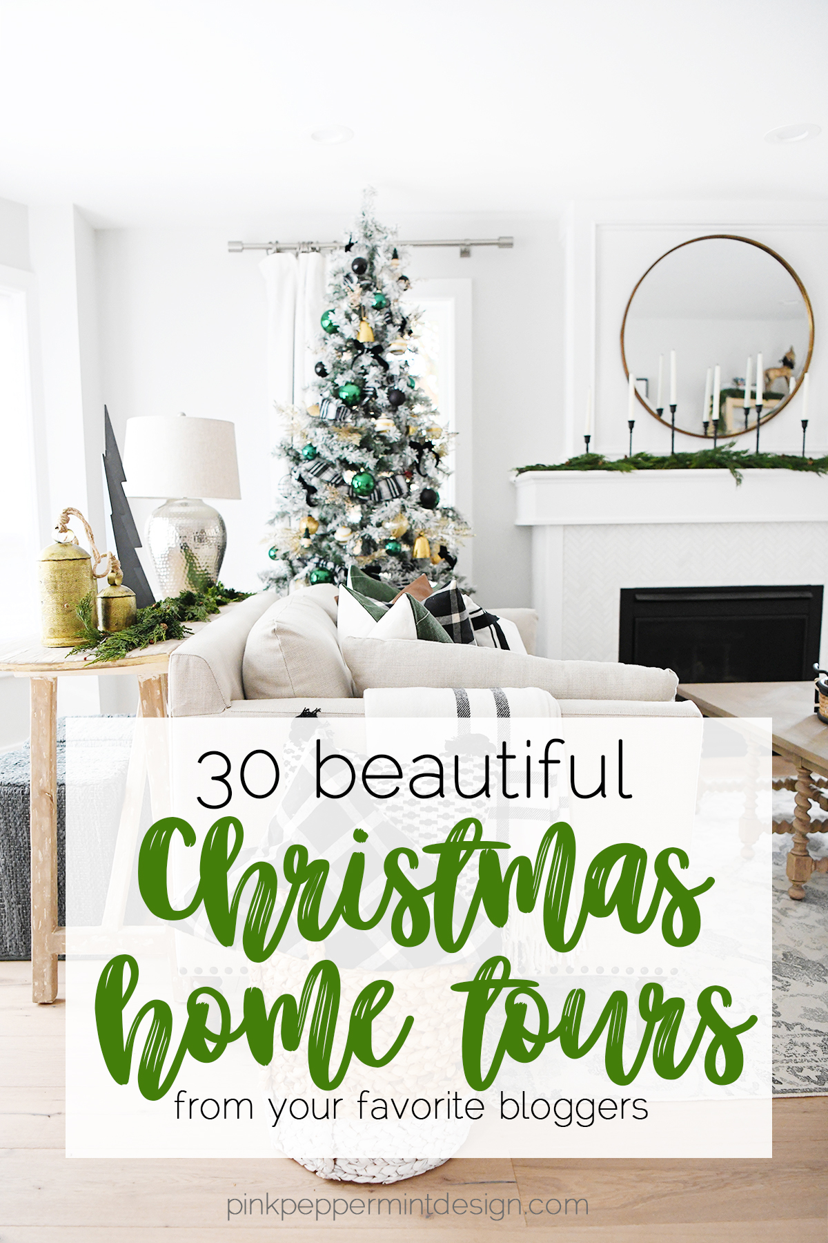 Our Modern Christmas Tree 30 Gorgeous Christmas Home Decor Tours Pink Peppermint Design