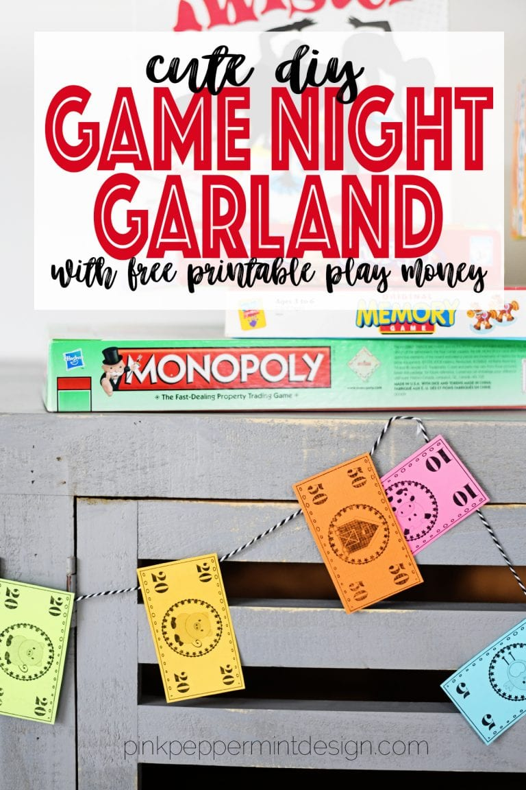 Diy garland home and family crafts game night