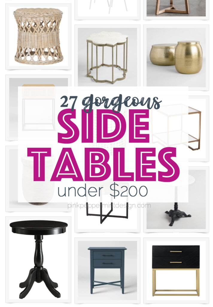 27 gorgeous side tables for under 200