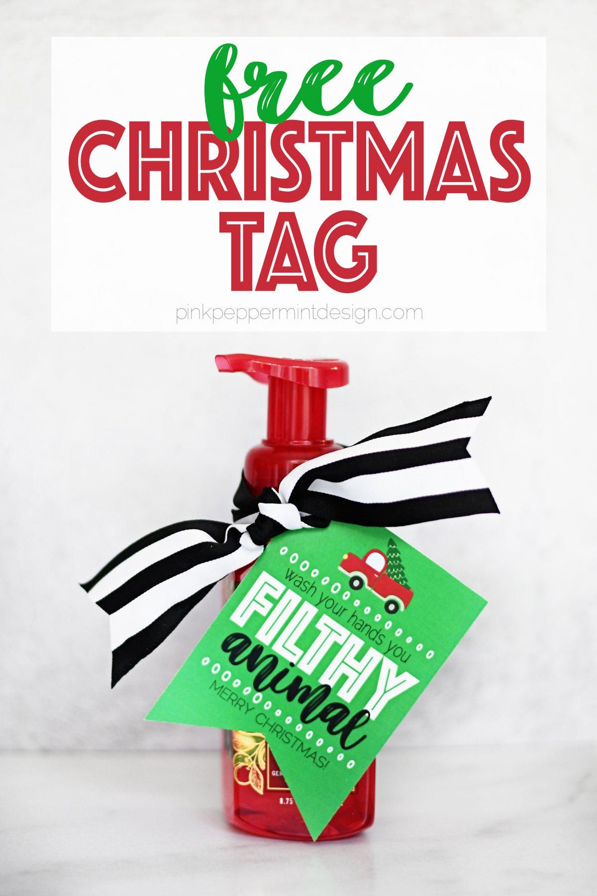 free printable Christmas tags PDF