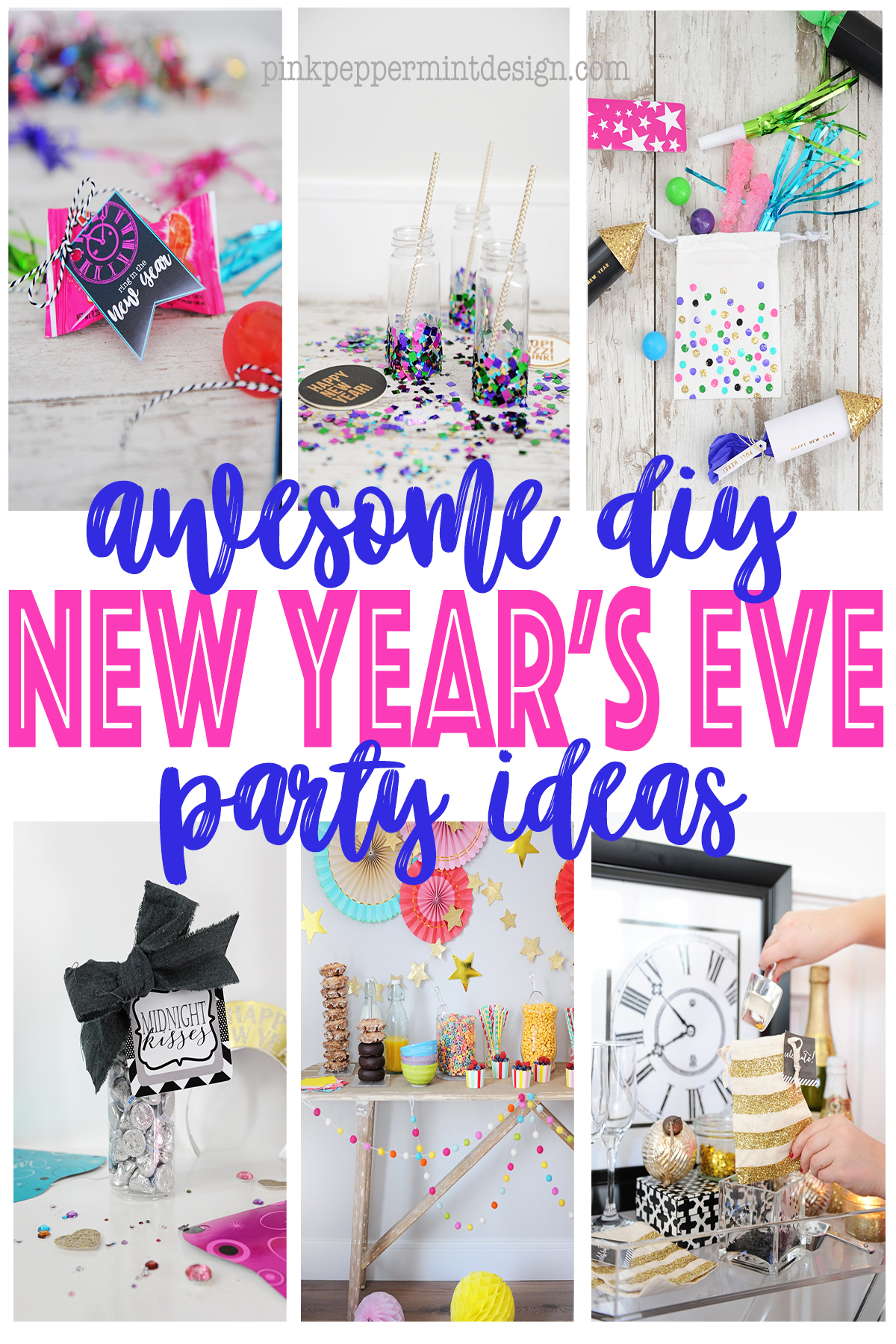 4x6 pink peppermint design diy new years eve party ideas