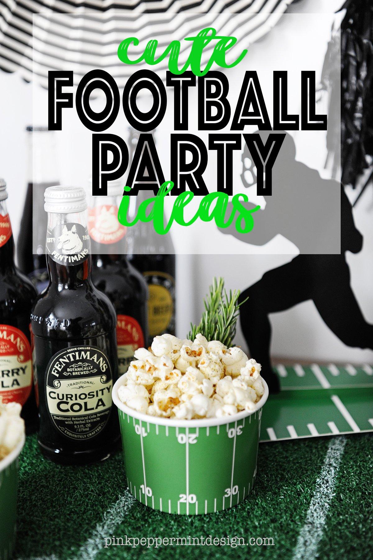 cute football party ideas