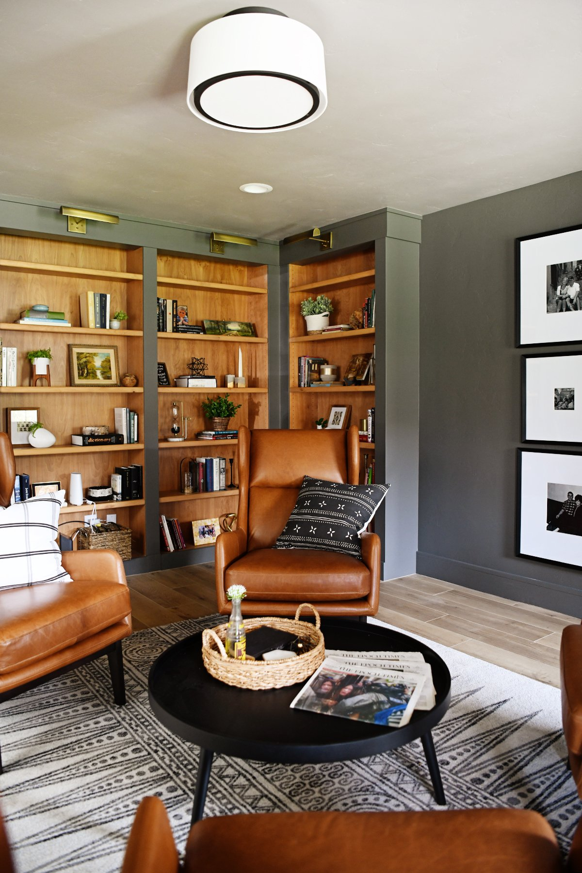 Home library design midway modern farmhouse
