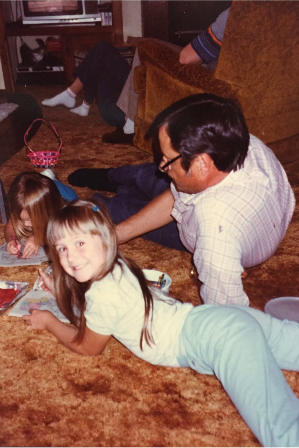 Tammy and grandpa 1983