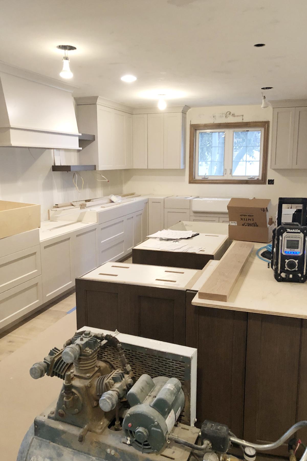 Midway kitchen in progress