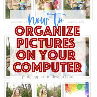 How to organize pictures on your computer