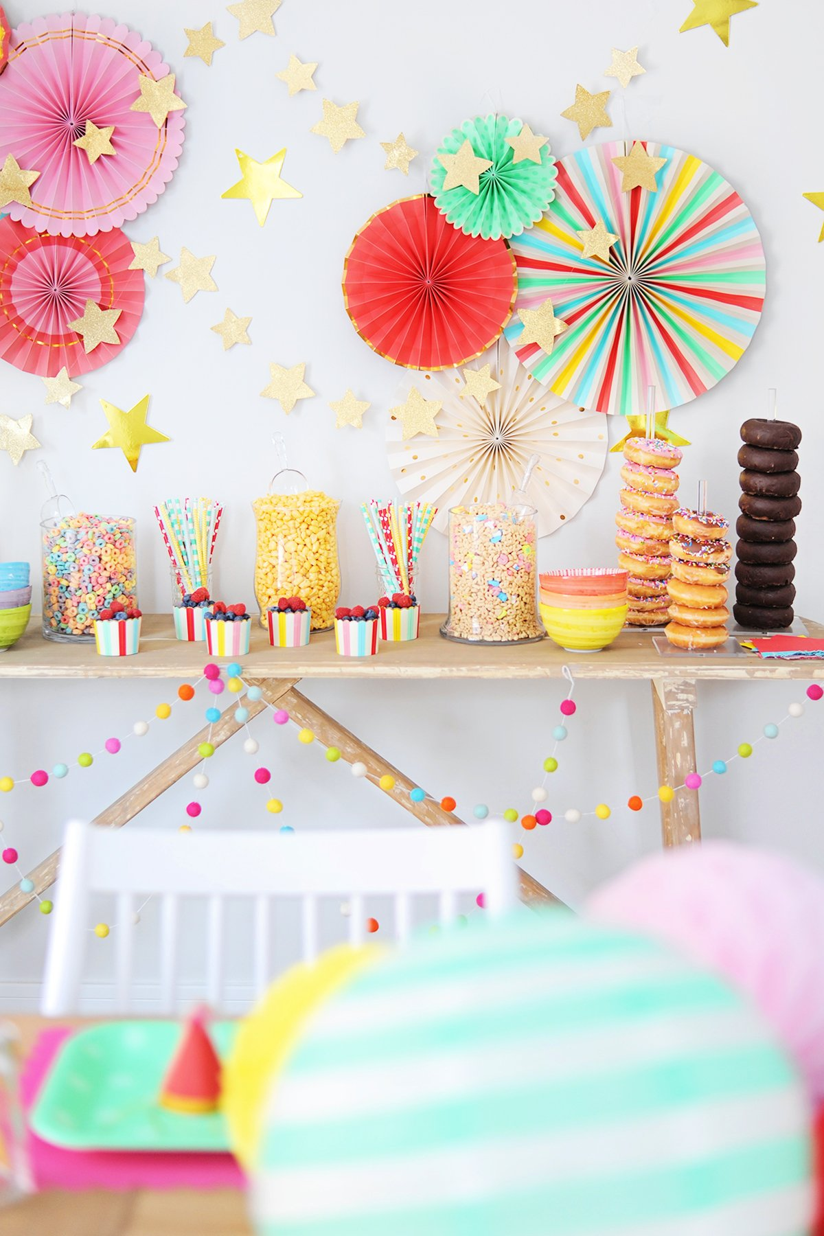 colorful birthday breakfast party 1