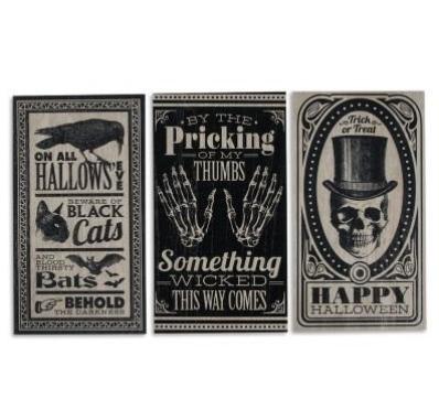 vintage halloween signs