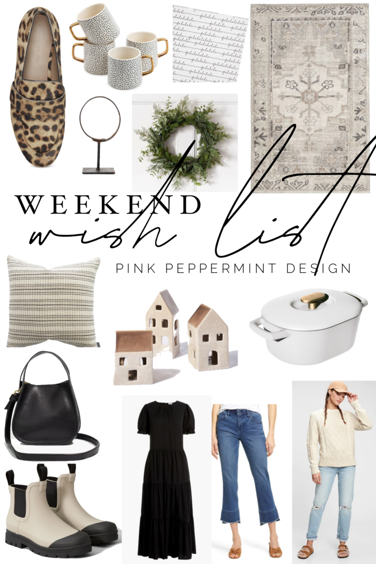 the weekend wish list