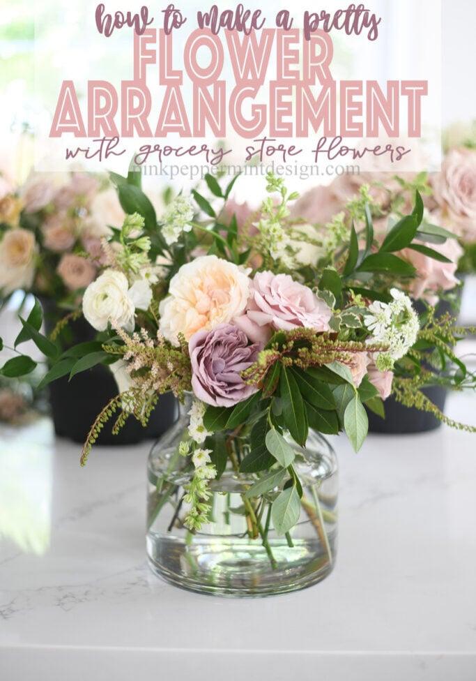 how to make a pretty flower arrangement